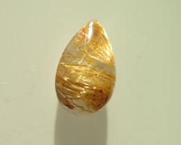 NICE  NATURAL RUTILATED QUARTZ CABOCHON 6.36 cts