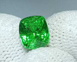 NO TREAT CERTIFIED 2.01 CTS NATURAL STUNNING GREEN TSAVORITE GARNET KENYA