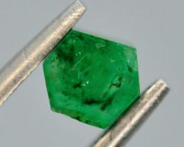 AAA Grade 0.70 ct Natural Emerald Slice ~ Swat ~ G AS