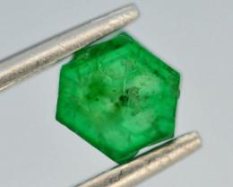 AAA Grade 0.80 ct Natural Emerald Slice ~ Swat ~ G AS
