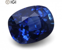 1.41 ct Oval Blue Sapphire IGI Certified