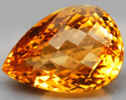 33.79 ct.  Top Quality Natural  Golden Yellow  Citrine Brazil Unheated