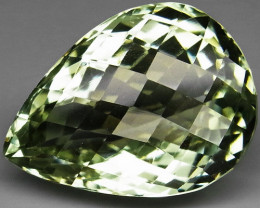 21.52Ct.  Top Quality   Natural Green Amethyst Brazil  Unheated