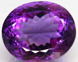 35.07 Ct. Top Quality 100% Natural Rich Purple Amethyst Uruguay  Unheated