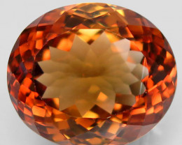 19.30 ct. Top Quality 100% Natural Topaz Orangey Brown Brazil