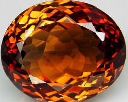 22.53 ct. Top Quality 100% Natural Topaz Orangey Brown Brazil