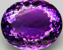 33.14 Ct. Top Quality 100% Natural Rich Purple Amethyst Uruguay Unheated