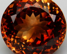 18.66 ct. Top Quality 100% Natural Topaz Orangey Brown Brazil