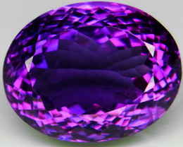 22 Ct. Top Quality 100%   Natural Rich Purple Amethyst Uruguay Unheated