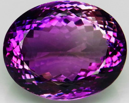 39.12 Ct.  Top Quality 100%  Natural Rich Purple Amethyst Uruguay  Unheated