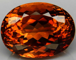 21.72 ct. Top Quality 100% Natural Topaz Orangey Brown Brazil