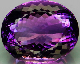 55.3 Ct.   Top Quality 100% Natural Rich Purple Amethyst Uruguay  Unheated