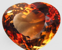 22.70 ct. Top Quality 100% Natural Topaz Orangey Brown Brazil