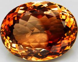 21.64 ct. Top Quality 100% Natural Topaz Orangey Brown Brazil