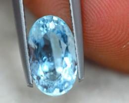 1.98Ct Natural Blue Aquamarine Oval Cut Lot B1097