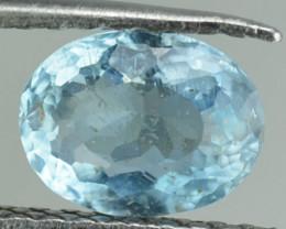 1.04 Cts Natural Sea Blue Aquamarine Oval Cut Brazil Gem