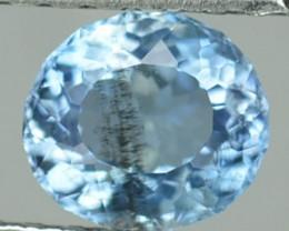 0.55 Cts Natural Sea Blue Aquamarine Oval Cut Brazil Gem