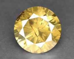 0.31 Cts Untreated Intense Yellow Natural Loose Diamond