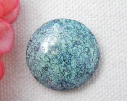 22.5ct  Round Turquoise Cabochon,Lucky Turquoise Gemstone ,Healing Stone E8