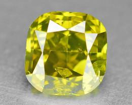 0.47 Cts Sparkling Fancy Vivid Yellow Natural Loose Diamond