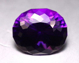 Amethyst 12.45Ct Natural Uruguay VVS Electric Purple Amethyst DR22