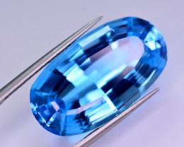 Stunning 26 Ct Natural Blue Topaz Gemstone