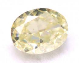 Yellow Diamond 3.87mm Natural Light Greenish Yellow Fancy Diamond A1636