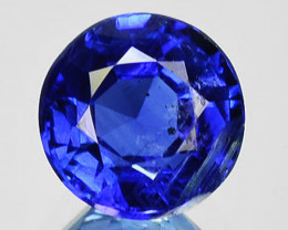 1.41 Cts Natural Royal Blue Kyanite 6.5mm Round Cut Nepal