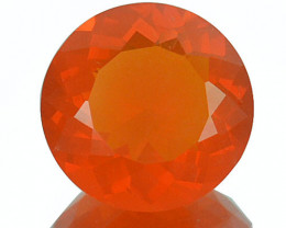~GORGEOUS~ 1.10 Cts Natural Mexican Orange Fire Opal 7.7mm Round