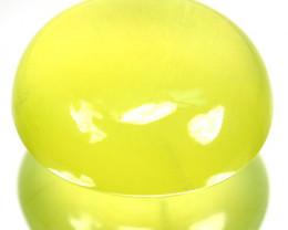 ~RADIUM GREEN~ 12.34 Cts Natural Prehnite Cabochon Guinea