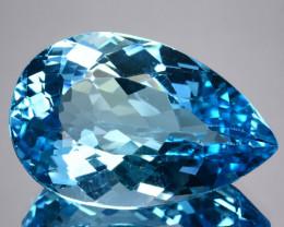 33.92 Cts Genuine Natural Blue Topaz Brazil Gem