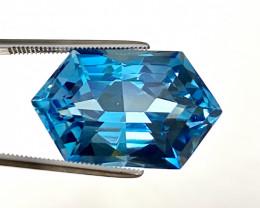 Stunning 27.35 Ct Natural Blue Topaz Gemstone