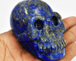 Genuine 925.00 Cts Blue Lapis Lazuli Carved Skull