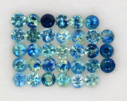 4.09 ct. 2.9-3 mm. NATURAL GEMSTONE MULTI COLOR SAPPHIRE DIAMOND CUT 33PCS.
