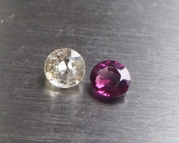 1.13ct natural white and purple sapphire