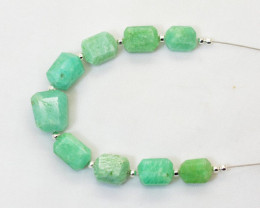 55 CT  Beautiful Amazonite Drilled Faceted Beads@Pakistan
