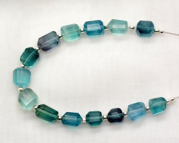 60 CT Beautiful Fluorite Drill Faceted Beads@Afghanistan