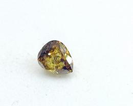 0.25ct  Fancy  Deep brownish Yellow  Diamond , 100% Natural Untreated