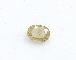 0.22ct  Fancy  orangish Yellow  Diamond , 100% Natural Untreated