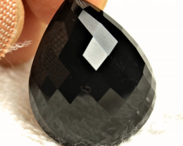 54.77 Carat Shimmering Black African Spinel Pear - Gorgeous