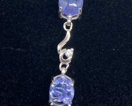 (11) Ravishing Nat 48.65tcw. Top Rich Blue Tanzanite CZ Bracelet