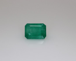 #1095 COLOMBIAN  CERTIFIED 1.97CT NATURAL EARTH MINED EMERALD GEMSTONE