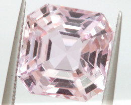 6.76 CTS- CERTIFIED KUNZITE FACETED GEMSTONE  TBM-2154