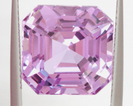 12.95 CTS- CERTIFIED KUNZITE FACETED GEMSTONE  TBM-2156