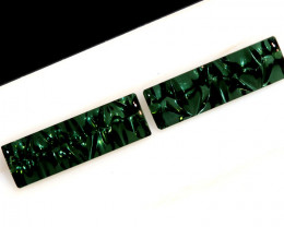 3.38-CTS  TOURMALINE   CARVED  PAIR PG-3259
