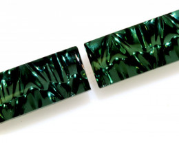 5.18 -CTS  TOURMALINE   CARVED  PAIR PG-3261