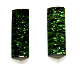 6.07-CTS  TOURMALINE   CARVED  PAIR PG-3262