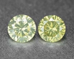 0.21 Cts 2Pcs Untreated Fancy Light Grey Natural Loose Diamond