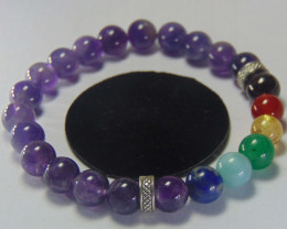 Beautiful beads  Bracelet amtyst,with mix colors 95.30 cts