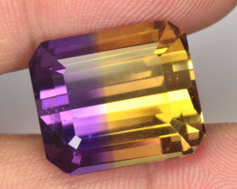 20.05 Cts NATURAL AMETRINE ~Bi-COLOR~ OCTAGON - BOLIVIA